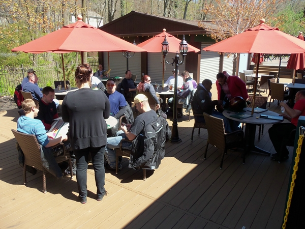 folks eating lunch at Mt. Gretna Hideaway Cafe