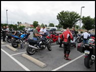 CSBA August 2011 Ride getting ready to leave breakfast