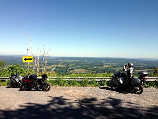 bikes at an overlook